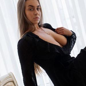 Elena elf-like flirt escort model with finger games loves erotic sex Berlin